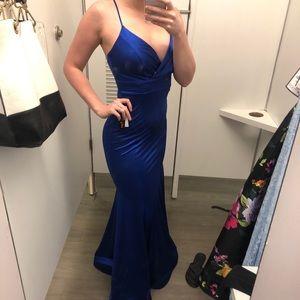 Dresses & Skirts - Royal blue Satin Gown
